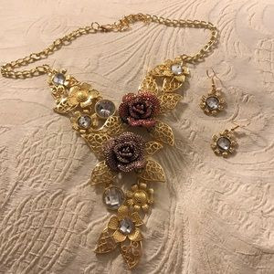 Stunning Necklace & Earrings Set